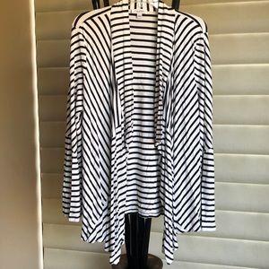Black Striped Cardigan